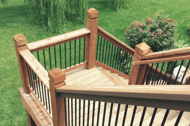 Residential Deck Staining Stairs